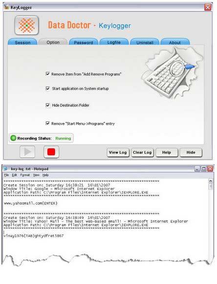 Windows XP Keylogger
